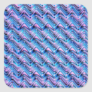 Abstract Blue And Purple Pattern Square Sticker