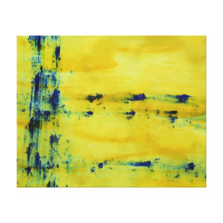 Abstract Blue and Yellow 1 Canvas Print