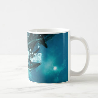 Abstract-Blue Aquarius Coffee Mugs