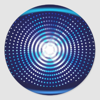 Abstract blue background classic round sticker