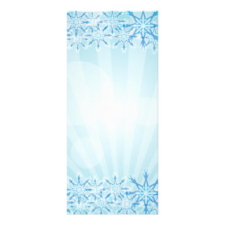 Abstract Blue Background Vector Graphic snowflakes Rack Card