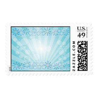 Abstract Blue Background Vector Graphic snowflakes Stamp