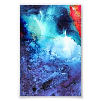Abstract Blue Batik Pattern Photo Print