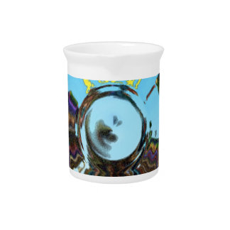 Abstract Blue Beverage Pitcher