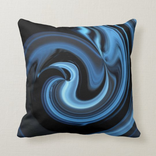 Abstract Blue Bird Throw Pillow