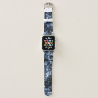 Abstract Blue Bokeh Dots Apple Watch Band
