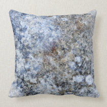 Abstract blue brown vintage marble pattern throw pillow