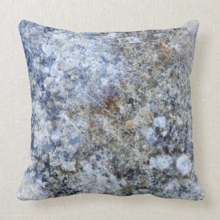Abstract blue brown vintage marble pattern throw pillow at Zazzle