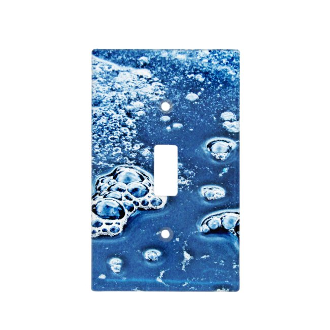 Abstract Blue Bubbles Ice Water Light Switch Cover