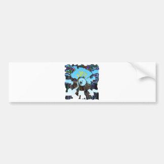 Abstract Blue Bumper Sticker