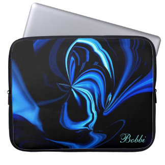 Abstract Blue Buterfly Laptop Sleeve *Personalize*
