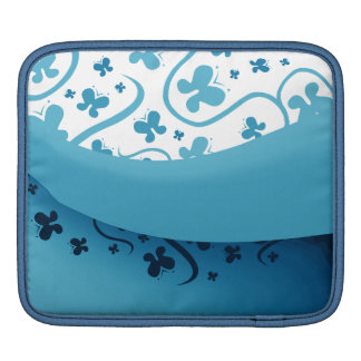 Abstract Blue Butterflies Sleeves For iPads