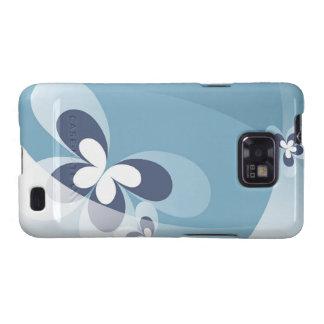 Abstract Blue Butterflies Samsung Galaxy S Case