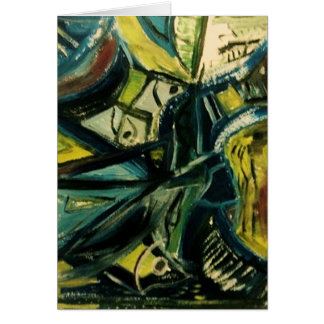 Abstract Blue Card