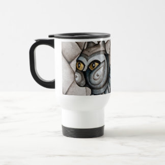 Abstract Blue Cat Mug