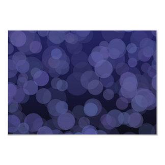 Abstract Blue Circles Card