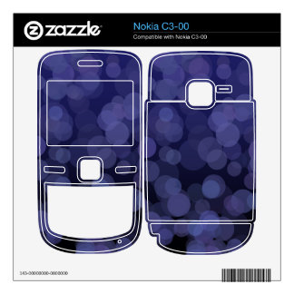 Abstract Blue Circles jpg Decal For Nokia C3-00