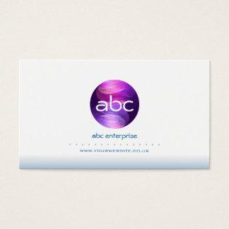 Abstract Blue Circles Logo Business Card