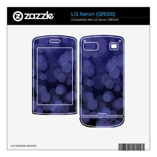 Abstract Blue Circles Skin For The LG Xenon