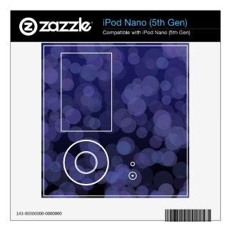Abstract Blue Circles Skin For iPod Nano