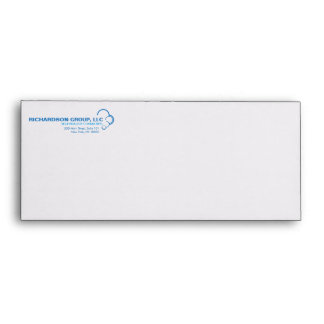 ABSTRACT BLUE CLOUD LOGO Envelope