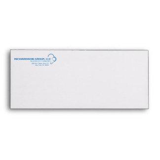 ABSTRACT BLUE CLOUD LOGO Envelope