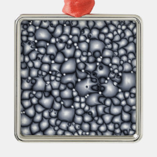 Abstract Blue Clusters Metal Ornament