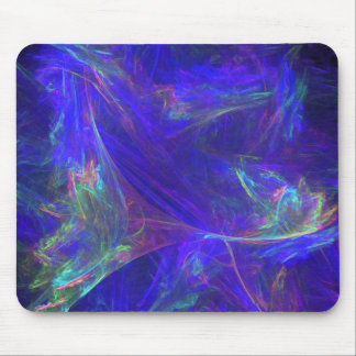 Abstract Blue Colorful Mists Mouse Pad