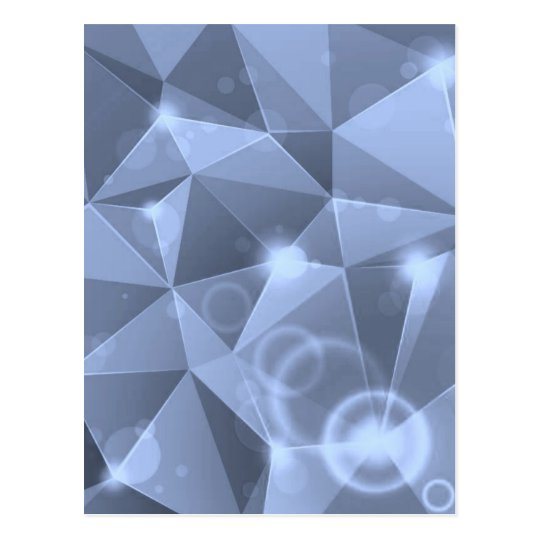ABSTRACT BLUE CRYSTALS DIGITAL WALLPAPER BACKGROUN POSTCARD