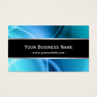 Abstract Blue Curves Black Belt Business Card