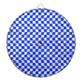Abstract Blue Dart Board