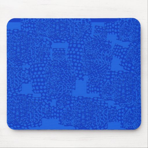 Abstract blue design mouse pad