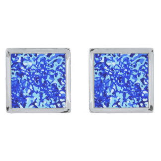 Abstract Blue Designer Square Cufflinks