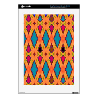 Abstract Blue Diamonds Desert Navajoe Decals For PS3 Console
