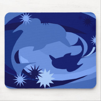 Abstract Blue Dolphin Mousepad