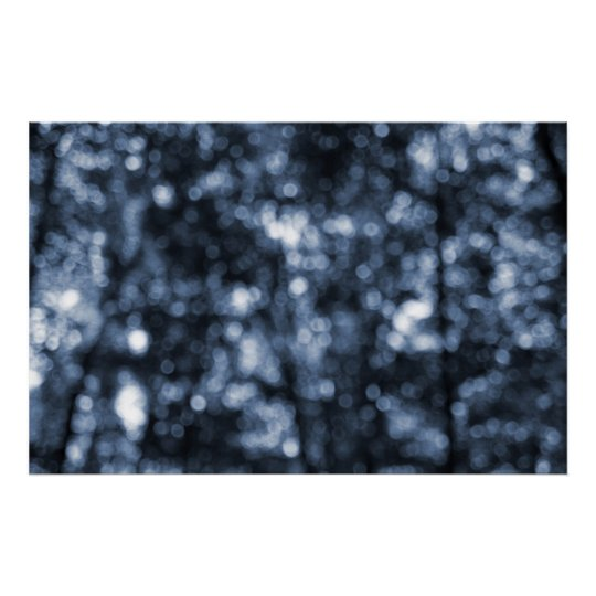 Abstract Blue Dots Cyanotype Print
