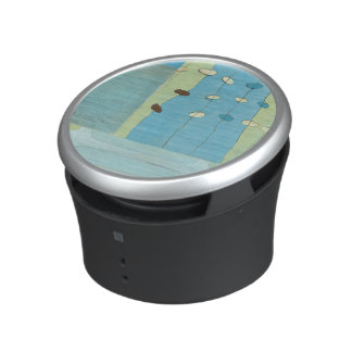 Abstract Blue Egg Parade Bluetooth Speaker
