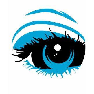 Abstract Blue Eye T-Shirt shirt