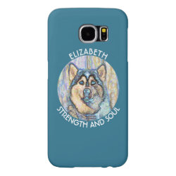 Case-Mate Barely There Samsung Galaxy S6 Case with Siberian Husky Phone Cases design