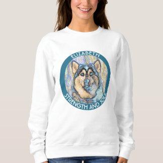 Abstract Blue Eyed Husky The Beautiful Dog Sweatshirt