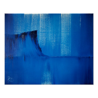 Abstract Blue Fair Head Irish Art Print