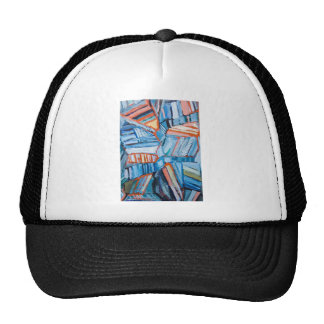 Abstract Blue Faults (abstract natural pattern) Trucker Hats