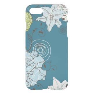 Abstract Blue Floral Fantasy iPhone 8/7 Case