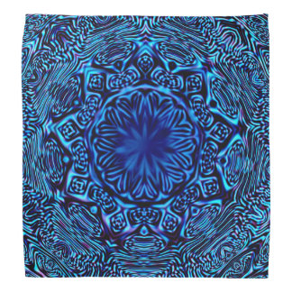 Abstract Blue Flower Bandana