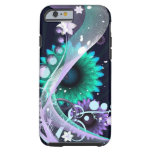 Abstract Blue Flower iPhone 6 case