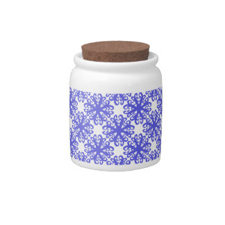 Abstract Blue Flower Sugar/Candy Jar Candy Dishes