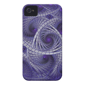Abstract blue fractal ball artwork sphere shaped iPhone 4 cover