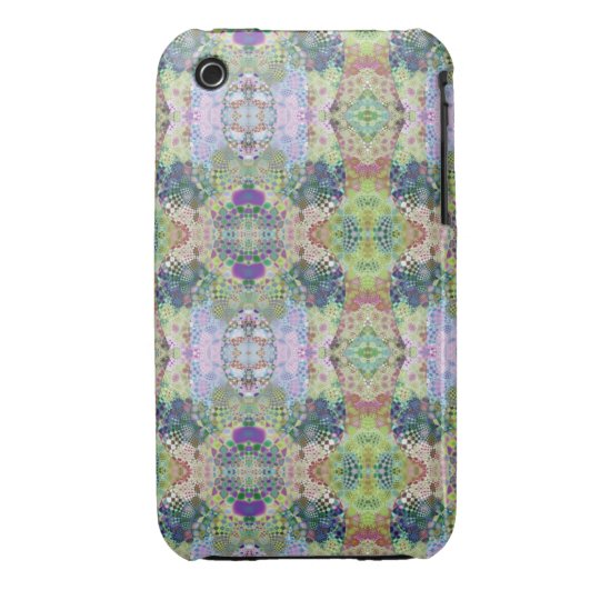 Abstract Blue Fractal iPhone 3 Case-Mate Case