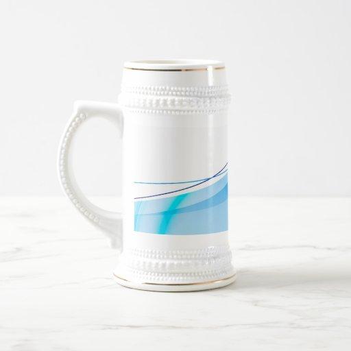 Abstract Blue Fractal Layout Mug