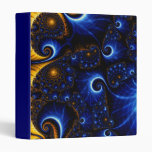 Abstract Blue Fractal Sky Avery Binder